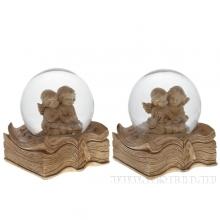 Фигурка декоративная в стеклянном шаре Ангел, L7,5 W7 H9 см, 2 в.