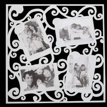 Коллаж - наклейка  для  фото, H55см