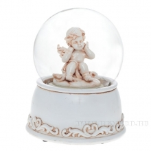 Фигурка декоративная в стеклянном шаре, L10,8 W10,8 H14,5 см