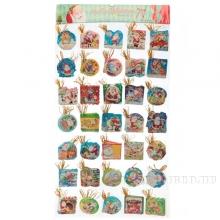 Набор из 248 новогодних открыток, 5,5 см