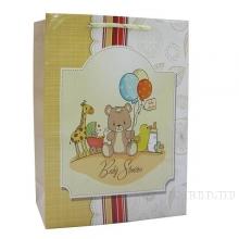Пакет подарочный (бумага, плотность 128г/м2, блок 12шт), L26 W9 H32 см