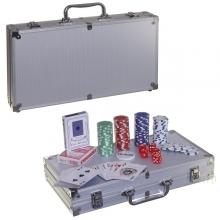Настольная игра Покер в металлическом кейсе (300 фишек), 40,3х23,6  H7,7 см