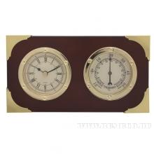 Метеостанция настенная (термометр, часы), 16,7х4,5х9,2см