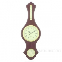 Метеостанция настенная (часы, термометр, гигрометр), 28х6х84см