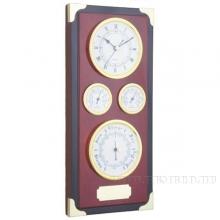 Настенные часы с метеостанцией (барометр, термометр, гигрометр), L17 W5 H37,2 см