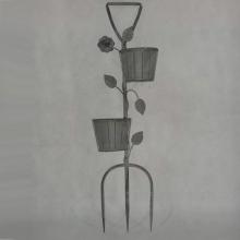 Подставка для цветов, L14 W14 H47 см