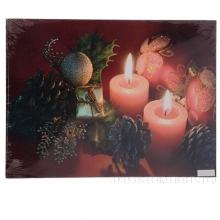 Панно Рождественский вечер с 2 светодиодами, L40 W1,8 H30 см (тип бат. АА-2 шт., не прилаг.)