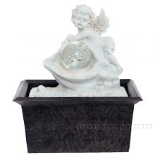 Фонтан декоративный  Ангел с подсветкой, L15,8 W11,8 H18 см