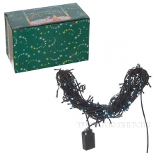 Электрогирлянда (100 светодиодов, цвет -белый, 8 режимов свечения, шнур 1,5 м), L 10,5 м