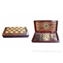 Набор настольных игр (шахматы, шашки, нарды) 39,7х19,7  H6 см