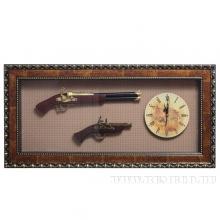 Панно Оружие с часами, L115 W8 H39 см