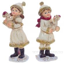 Фигурка декоративная ДевочкаL4 W4 H10,5см , 4в.