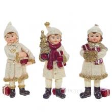 Фигурка декоративная Дети L6 W5 H12,5см, 3в.
