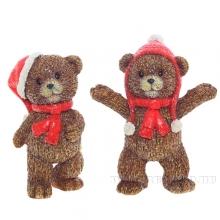 Фигурка декоративная МедвежонокL9,5 W5,5 H12см, 2в.