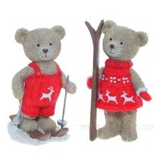 Фигурка декоративная МедвежонокL6 W5,5 H10см, 2в.