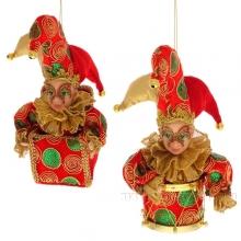 Новогоднее украшение Клоун, 18 см, 2 в.