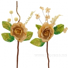 Новогоднее украшение Цветок, 10х39 см, 2 в.