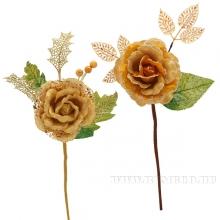 Новогоднее украшение Цветок, 12х39 см, 2 в.