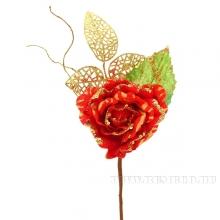 Новогоднее украшение Цветок, 11х28 см