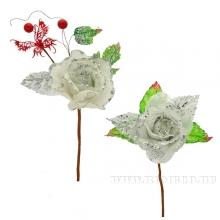Новогоднее украшение Цветок, 12х25 см, 2 в