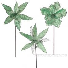 Новогоднее украшение Цветок, 35х76/21х70/35х75 см, 3 в.