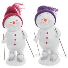 Снеговик, L8,5 W7,5 H16,5см, 2в.