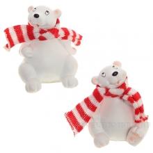 Фигурка декоративная Медведь, L6 W6 H7,5см, 2в