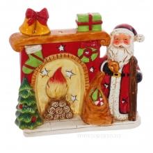 Фигурка декоративная с подсветкой Санта, L17 W5,3 H16,5 см (2хLR44)