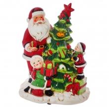 Фигурка декоративная с подсветкой Санта, L23 W16,5 H28,5 см (3хААА не прилаг)