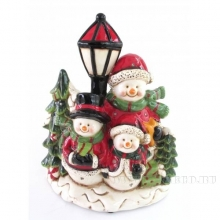 Фигурка декоративная с подсветкой и музыкой Снеговик, L23,7 W13,9 H27,8 см (3хААА не прилаг)