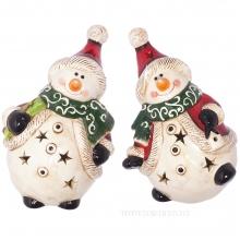 Фигурка декоративная с подсветкой Снеговик, L11,2 W9,6 H17,2 см, 2 в. (2хLR44)