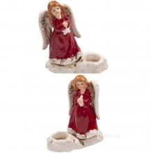 Фигурка декоративная Ангел, L11 W5,5 H12,5 см, 2 в.