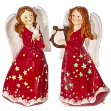 Фигурка декоративная Ангел, L12,5 W11 H20,5 см, 2 в. (3хААА не прилаг)