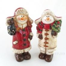 Фигурка декоративная Снеговик, L13,5 W10,3 H25,8 см, 2 в.
