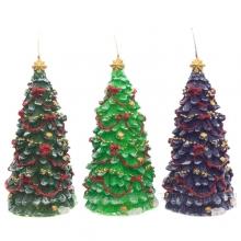 Свечи новогодние и подсвечники