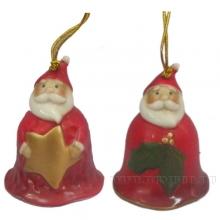 Колокольчик Дед Мороз,L5,5 W5,1 H6,1см, 2 в