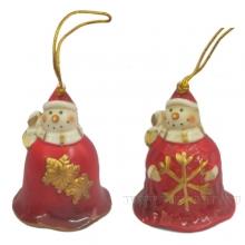Колокольчик Снеговик,L5,5 W5,1 H6,1см, 2 в