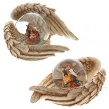 Фигурка декоративная в стеклянном шаре Рождество, D 65 мм, 2 в.