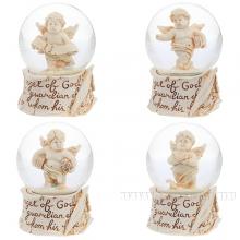 Фигурка декоративная в стеклянном шаре, 45 мм, 4 в.