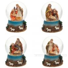 Фигурка декоративная Рождение Христав стеклянном шаре, 45 мм, 4 в.