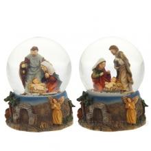 Фигурка декоративная  Рождение Христав стеклянном шаре, 65 мм, 2 в.