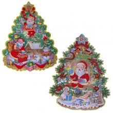 Новогоднее панно Новогодняя ёлка, L36см, H43см, 2в.