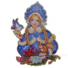 Новогоднее панно Дед Мороз и Снегурочка, L44/38, H56/58см, 2в.
