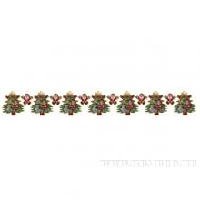 Новогодняя гирлянда Ёлка, L180см, H20см