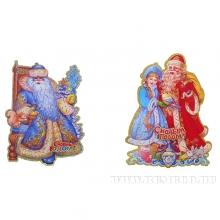 Новогоднее панно Дед Мороз и Снегурочка, L37см, H24см, 2в