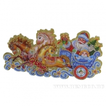 Новогоднее панно Дед Мороз и Снегурочка, L37см, H24см, 2в.