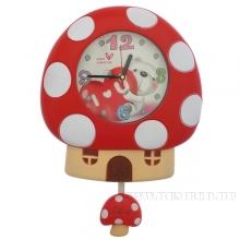 Часы настенные детские Мухомор H38,5см