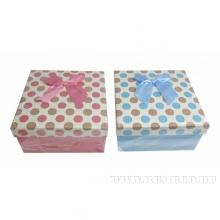 Коробка подарочная, набор из 3-х шт, L19,5W19,5H9,5/L17,5W17,5H8/L15,5W15,5H6,5 см, 2в.