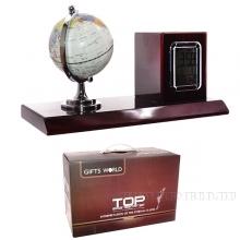 Настольный набор (часы, глобус, карандашница, L26 W12,5 H16,5 см
