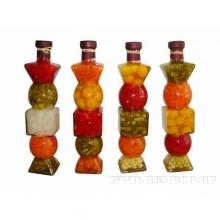 Декоративные бутылки с овощами, крупами